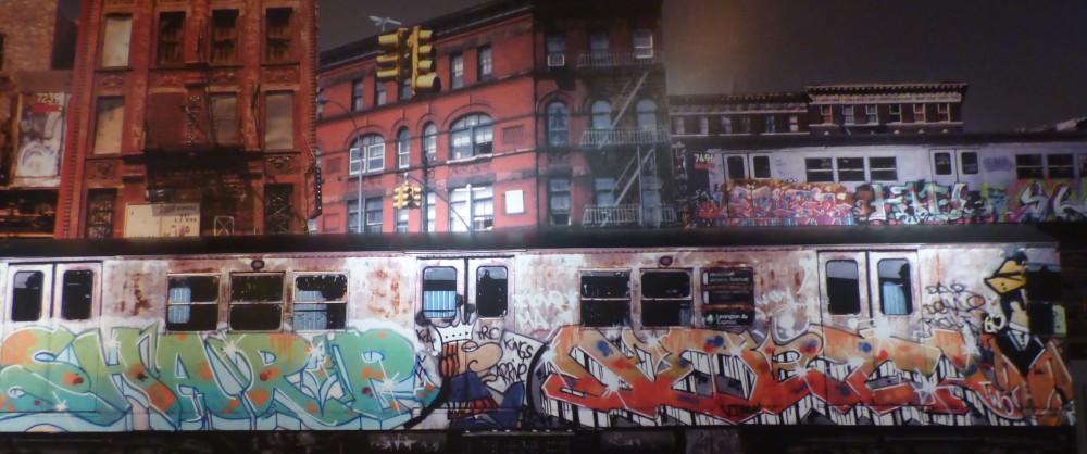 Reproducción del metro neoyorquino