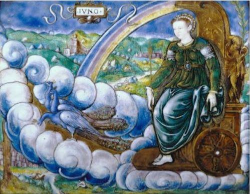 Alegoría de Catalina de Medici como Juno (Léonard Limosin)
