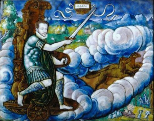 Alegoría de Carlos IX como Marte (Léonard Limosin)